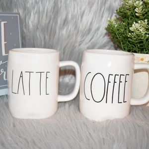 Rae Dunn LATTE COFFEE mugs